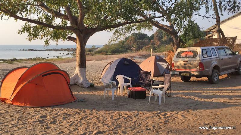 Kamperen bij FloJa Malawi